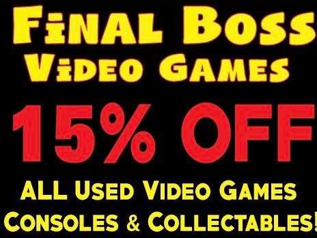 Final Boss Video Games 15% Off!